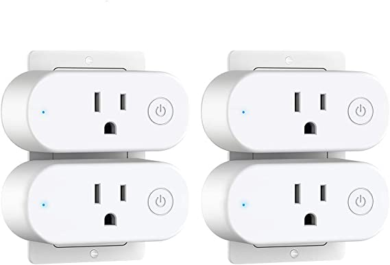 Smart Plug with Energy Monitoring - Aoycocr 15A Wifi Outlet Work with