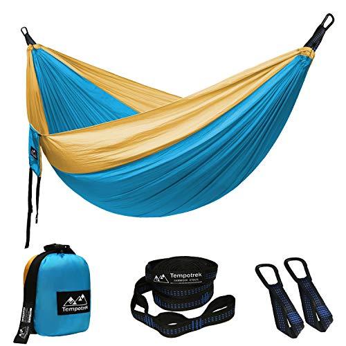 - Tempotrek Double Camping Hammock -Best Parachute Hammock - 800LB High Capacity, Lightweight Nylon Portable Hammock for Backpacking, Travel, Beach, Yard. 118
