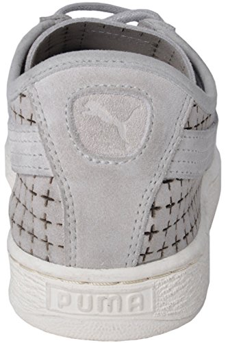 Puma Suede Courtside Court Sneakers Shoes Perforated Grey Violet r3RGSoeOxY