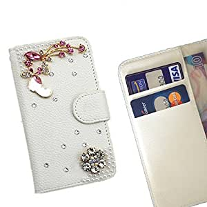 FOR RED NOTE2 Colourful Bling Bling Bling PU Leather Waller Holder Rhinestone - - OBBA