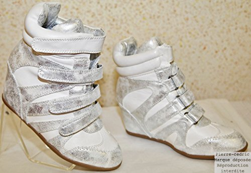 intérieur Basket Semelle Compense Sneakers Talon Femme Cuir Similicuir YwZqYvr
