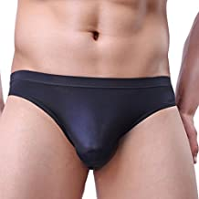Winday Men Briefs Breathable Ice Silk Triangle Bikinis and Briefs N04