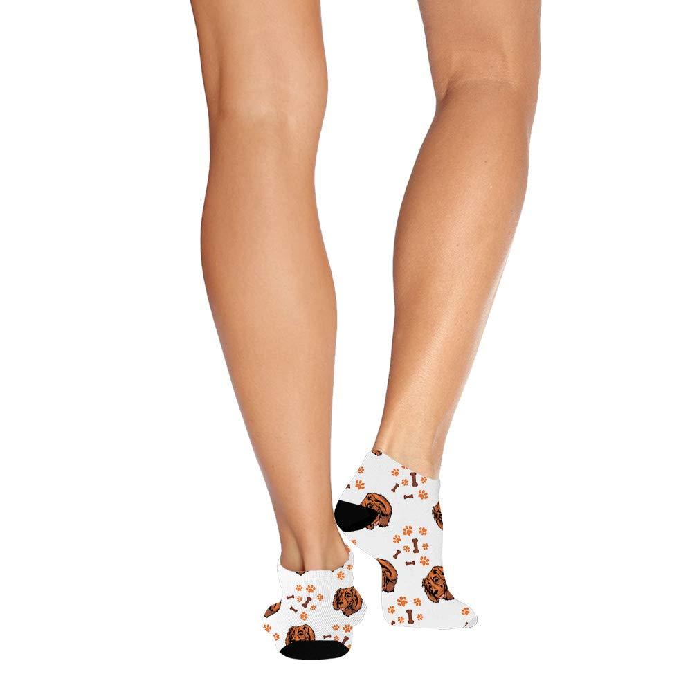 Boykin Spaniel Dog Breed Pattern #2 Men-Women Adult Ankle Socks