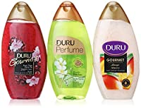 Duru 3 Piece Shower Gel Variety Pack, Cherry Pie/Mango Ice Cream/Bamboo