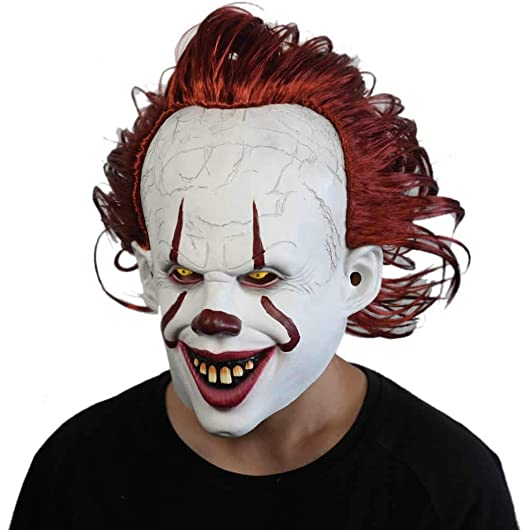 Stephen King/'s  Mask Pennywise Clown Mask Halloween Free Shipping U.S Seller