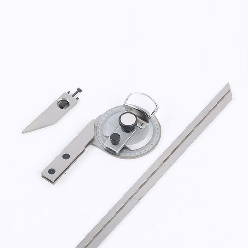BIlinli 360 Grad Universal Abschr/ägung Winkelmesser Mess Finder Pr/äzision Goniometer Winkel Lineal Mit Lupe Holzbearbeitungswerkzeug