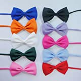 Fashion Adjustable Dog Bow Tie for Dog Wedding Tie Pet Collar Charm Pet Tie Fee Shipping,10 Colors, My Pet Supplies