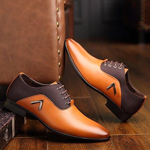 Hommes en Cuir LEDLFIE Hommes Yellow pour D'affaires Chaussures Chaussures Occasionnels pour WTnnSIf
