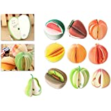 Ace Select 10 Styles 3D Fruit Shaped Portable Mini Notes Memo Scratch Pads Paper Notepads