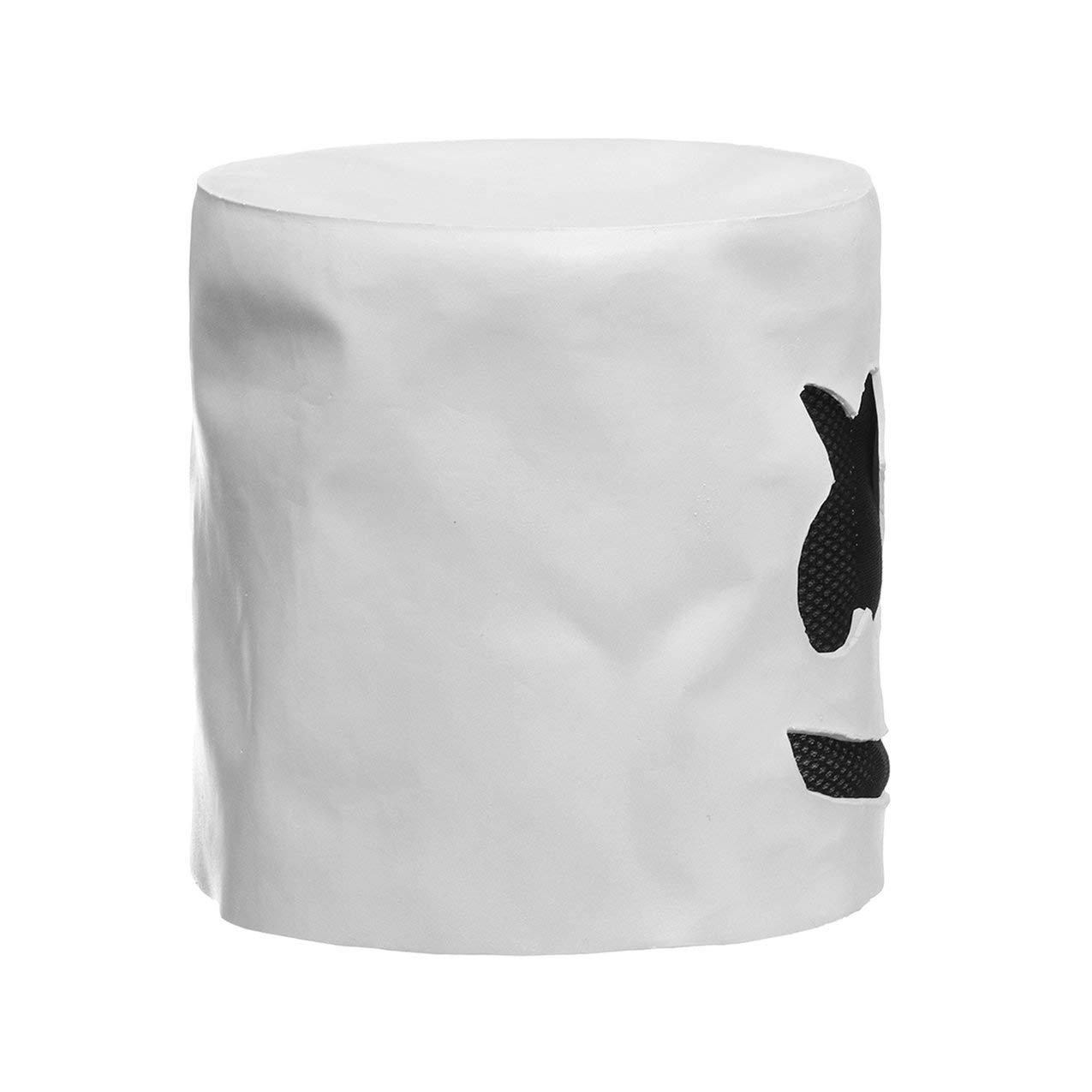 Redstrong Máscara Blanca de látex para DJ, Fiesta de Moda de ...