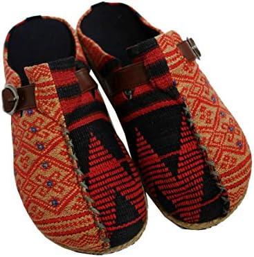 Sabo sandals ナガ族サボサンダル ベージュ×レッド/赤系 (ベルトタイプ)