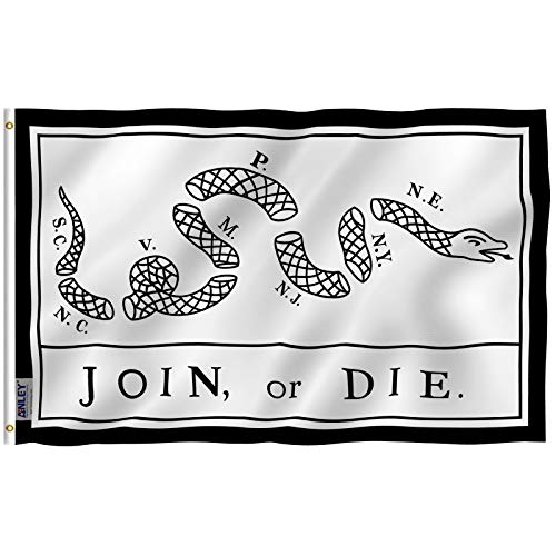 a204cad7 Anley Fly Breeze 3x5 Foot Join Or Die Flag - Vivid Color and UV Fade  Resistant