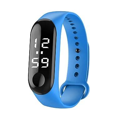 BIBOKAOKE Reloj Pulsera de Actividad Inteligente Al Aire Libre Deportes Unisex Smartwatch Deportivo LED Digital Relojes