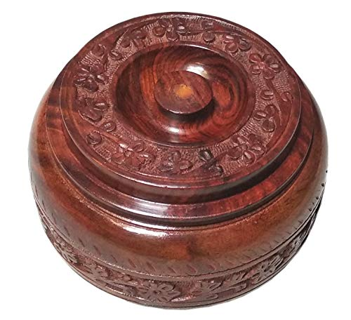 Royal Art Wooden Hand Crafted Spices Box/Masala Box/Dry Fruit Box