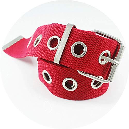 Metal Belt Long Personality Casual Ring Black Jean Canvas Waist Belts Tide Sier Pin Buckle,style 3,130cm ()