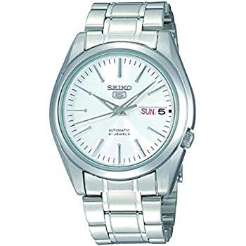 Seiko 5 #SNKL41 Mens Stainless Steel Silver Dial Self Winding Automatic Watch