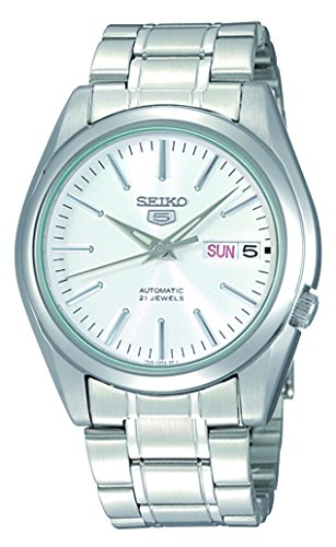 Seiko 5 #SNKL41 Men's Stainless Steel Silver Dial Self Winding Automatic Watch -