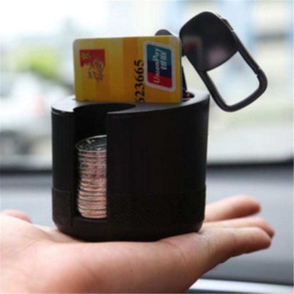 Katurn Auto Cup Holder Box Organizer Portatile Mini Porta Bevande Valigetta per Monete Tasca Cards