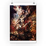 The Fall of the Damned - Masterpiece Classic - Artist: Peter Paul Rubens c. 1620 (16x24 Collectible Giclee Gallery Print, Wall Decor Travel Poster)