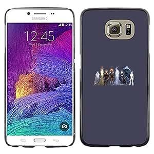 EJOY---Cubierta de la caja de protección la piel dura para el / Samsung Galaxy S6 / --Elementos Heros
