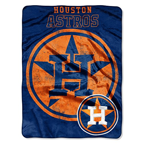 "Officially Licensed MLB Houston Astros Triple Play Micro Raschel Throw Blanket, 46"" x 60"""