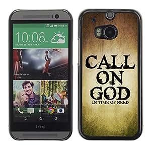 YOYO Slim PC / Aluminium Case Cover Armor Shell Portection //CALL ON GOD //HTC One M8