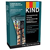 KIND Bar Dark Chocolate Nuts and Sea Salt, 40g, Pack of 4