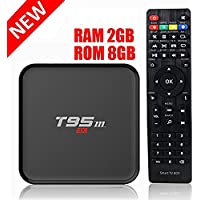 HONGYU T95M 2G/8G Android 6.0 Smart TV Box Amlogic S905X Quad Core with 2.4G Wifi 100M Ethernet LAN 4K HDMI 3D OTT TV Media Player