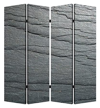 Amazoncom Screen Gems Black Slate 4 panel Room Divider 7ft Tall