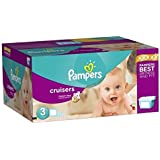 Pampers Cruisers Disposable Diapers Size 3, 92 Count, SUPER