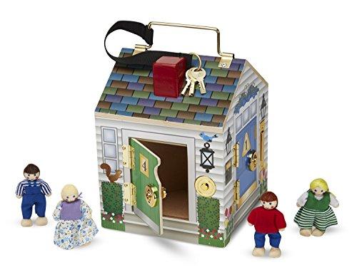 Melissa Doug Take Along Doorbell Dollhouse