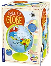 """Thames & Kosmos Kids First Light Up Globe - Handcrafted, Acrylic - Made In Germany by Columbus globes - 10"""", Illuminated LED Light-Up Political Map with Nocturnal Animals & Deep Sea Creatures"""