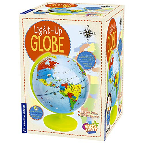 Thames & Kosmos Kids First Light Up Globe - Handcrafted, Acrylic - Made in Germany by Columbus Globes - 10