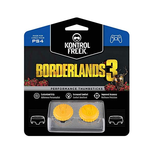 KontrolFreek Borderlands 3 Claptrap Performance Thumbsticks for PlayStation 4 (PS4) | 2 Mid-Rise Convex Thumbsticks… 1