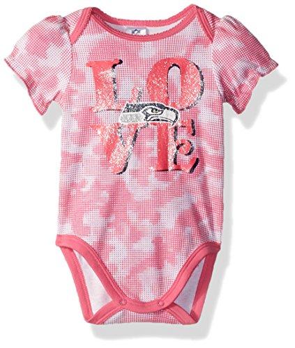 NFL Seattle Seahawks Baby-Girls Camo Bodysuit, Seahawks, 3-6 (Best Gerber Baby Girl Gifts)