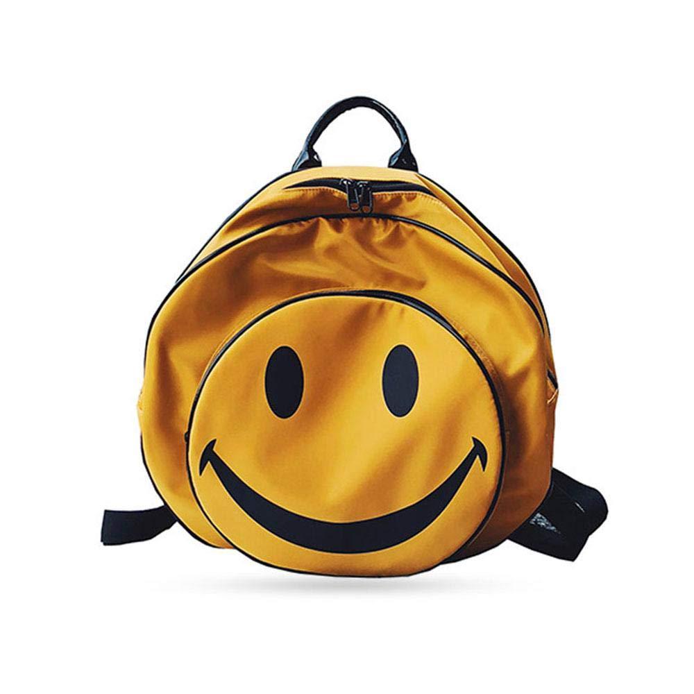 FOONEE 絵文字バックパック 防水 オックスフォード生地 ショルダーバッグ レディース ガールズ 学校/旅行/ハイキング/キャンプ/アウトドア用 B07GLS3RLD Yellow L