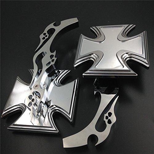 NBX Miroir acrylique chrom/é pour moto Yamaha Cruiser Bikes Royal Star Stratoliner Roadliner Road Star Warrior V-Max Virago