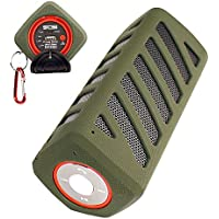 SCS ETC Portable Wireless Bluetooth Speaker with 7000mAh Power Bank-3D Surround Sound Outdoor Sports Speakers- Green