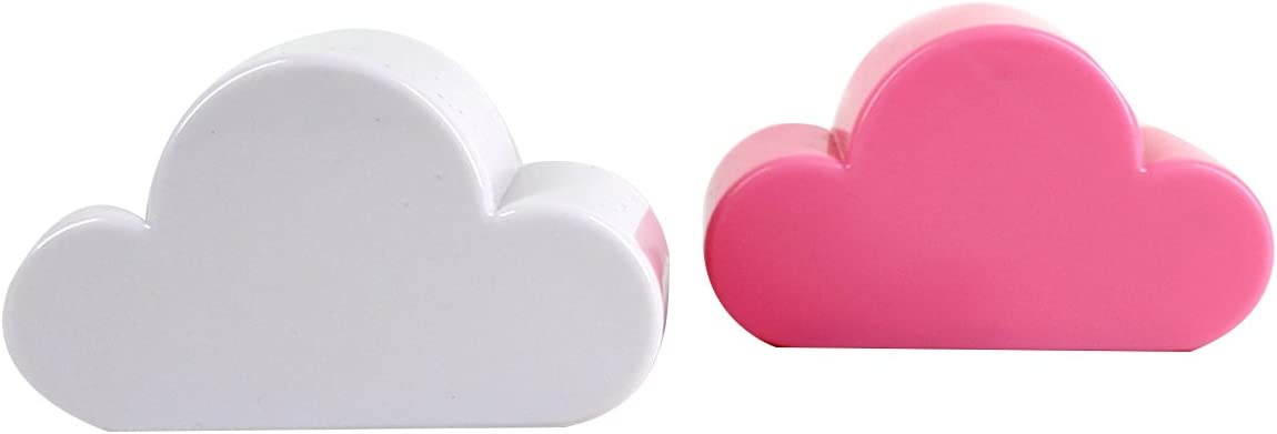 Cloud Millya 4 ganchos magn/éticos para colgar en la pared de acr/ílico creativo talla /única white and Pink polipropileno
