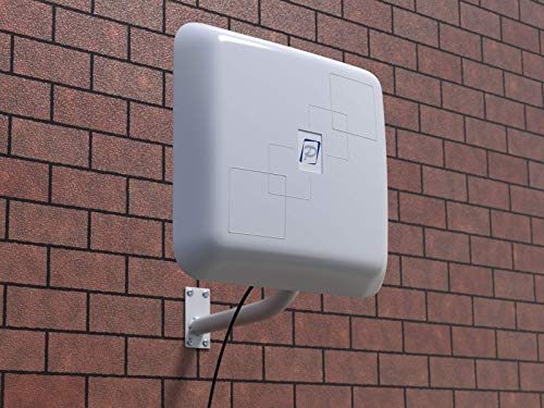 Outdoor WiFi Antenna BAS-2301 15 dB Extender up to Half-Mile 2.4 Ghz, white