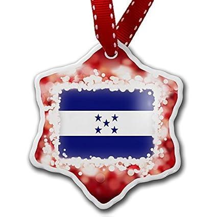 funny christmas ornaments for kids honduras flag red holiday xmas tree ornaments decoration gifts - Funny Christmas Tree Ornaments