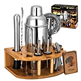 Cocktail Shaker Set with Stand   Perfect Bartender