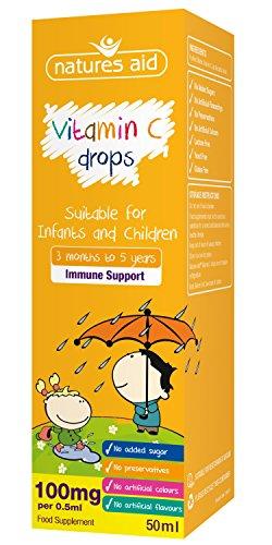(3 months-5 years) Vitamin C 100mg Mini Drops for infants & children 50ml