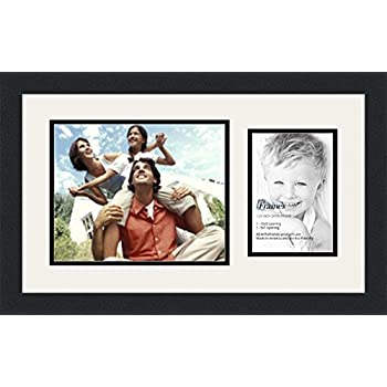 arttoframes collage photo frame double mat with 1 5x7 8x10 openings and satin black - Double 5x7 Picture Frame