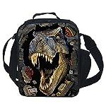 CAIWEI 3D Animal Dinosaur Insulated Lunch Box Cooler Bag