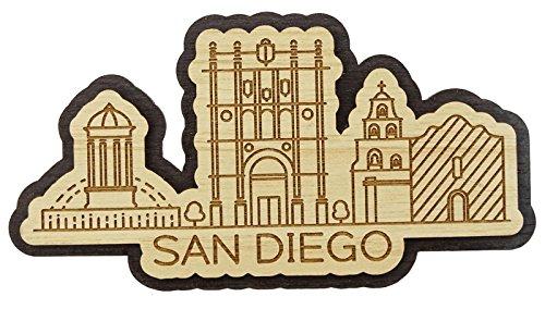 Printtoo San Diego City Of California Wooden Engraved Fridge Magnet Souvenir Gift (Refrigerator Name Magnets)