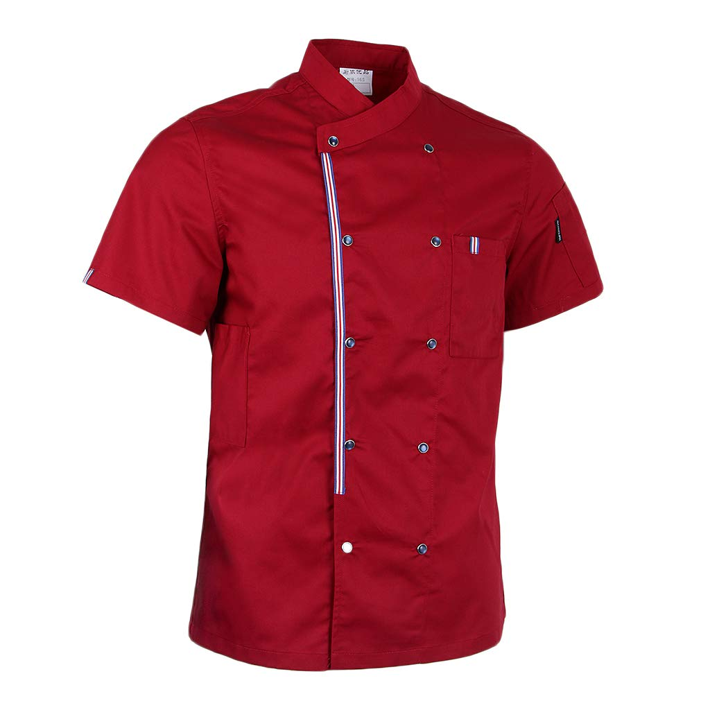 Fenteer Vêtements de Cuisine en Polyester Unisexe, Accessoire de Cuisinier Uniforme de Serveur/Chef/Barman