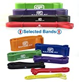 Pull up Assist Bands – Heavy Duty Resistance Bands, Mobility Bands for Cross Training, Exercise Resistance for Gymnastics and Powerlifting Ideal Assist Bands(Bundle #1 Red #2 Black #3 Purple #4 Green)