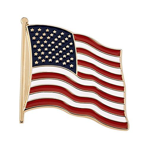 Made in America - American Flag Lapel Pin Company Lapel Pin