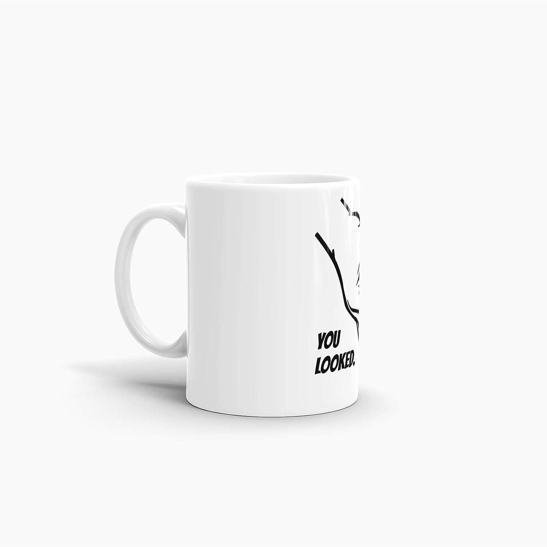 """Reingeguckt Kaffeetasse Circle-Game Tasse mit Spruch /""""You Looked/"""" Mug //"""